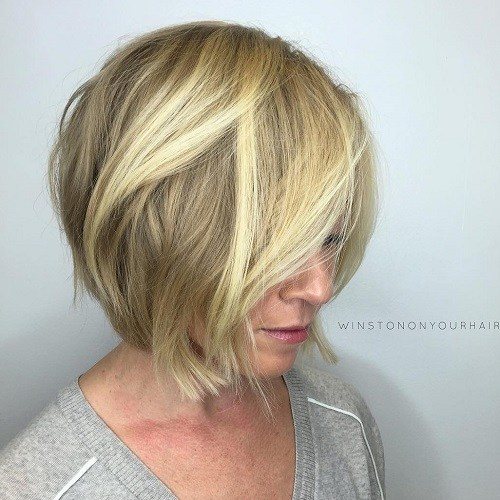 2 Blonde Layered Bob Für Damen Ab 40 Freche Frisuren