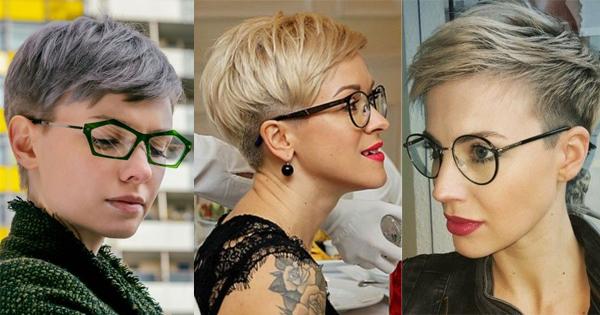 Frau brille kurzhaarfrisur mit Kurzes Haar