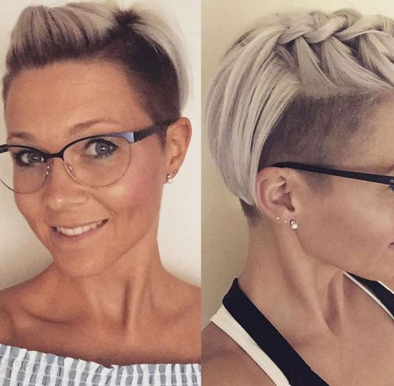 7 Erstaunlich kurze Frisur mit Zöpfen