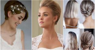 7 wunderschöne kurze Frisuren für den Hochzeitstag