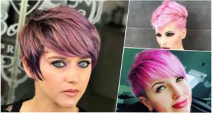 15 wunderschön violett und rosa Kurzhaarmodelle