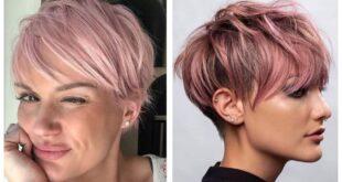 10 Faszinierende kurze pink Frisuren