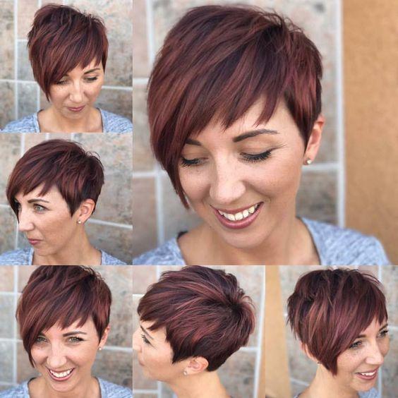 Richtige Haarfarben für die kommende Saison. Gehen Sie für kupferfarbene Highlights!